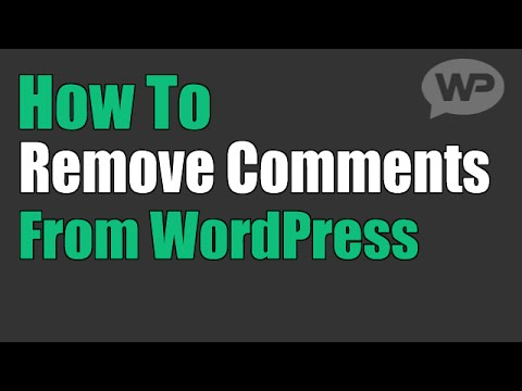 How to remove the WordPress comments box from pages