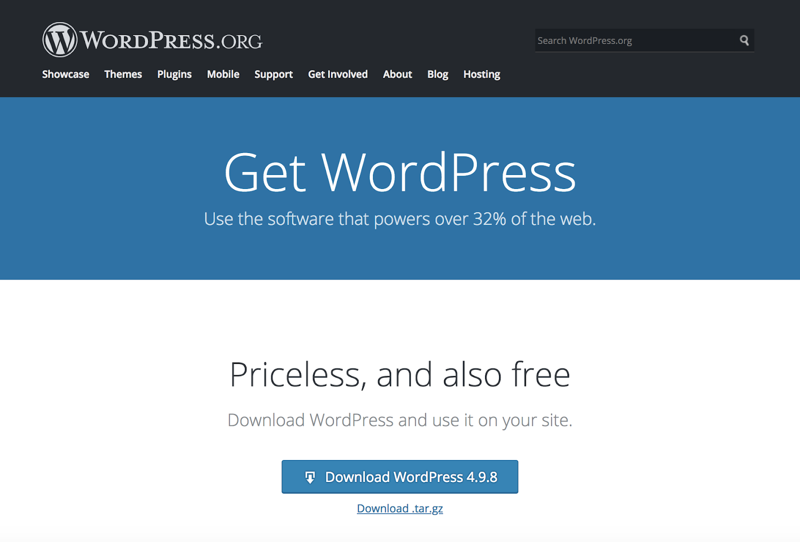 How do I start using and install WordPress