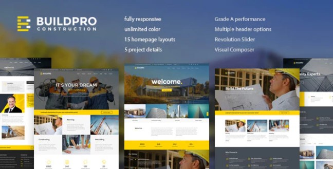 BuildPro v1.9.0.4 – Business, Building & Construction WordPress Theme