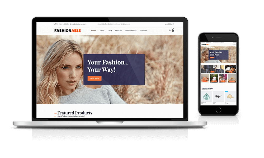 Fashionable Store – WordPress theme
