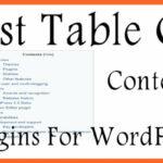 Best Table of Content WordPress Plugins